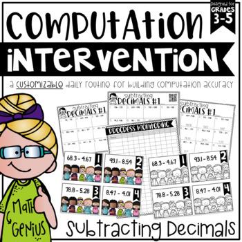 Subtracting Decimals {Task Cards, Intervention, and Homework}