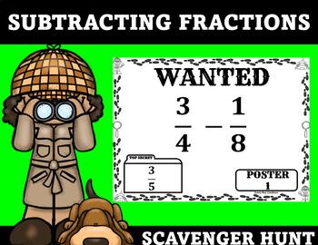 Subtracting Fractions Scavenger Hunt