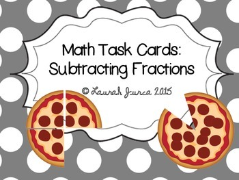 Subtracting Fractions Task Cards {Enhanced with Augmented