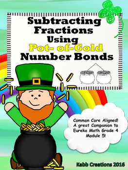 St. Patrick's Day Subtracting Fractions using Pot-of-Gold
