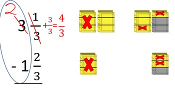 Subtracting Fractions with Borrowing