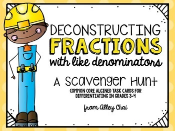 Subtracting Fractions (with like Denominators): A Task Card Game