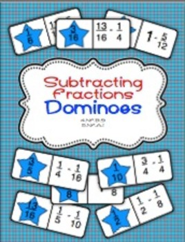 Subtracting FractionsDominoes