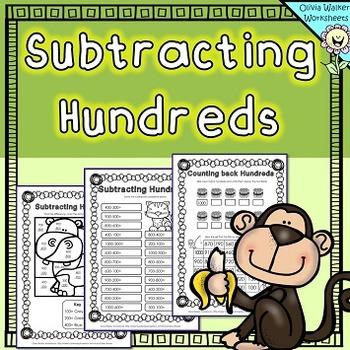 Subtracting Hundreds Worksheets / Hundreds Subtraction