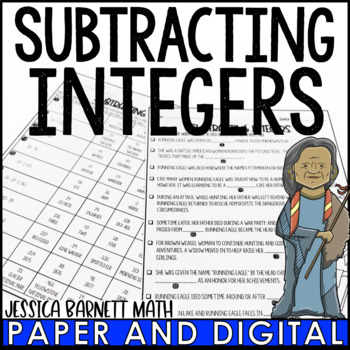 Subtracting Integers Story Activity