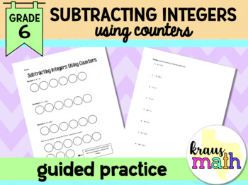 Subtracting Integers Using Counters