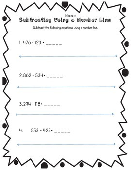 Subtracting Larger Numbers on a Number Line