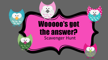 Subtracting Mentally Scavenger Hunt