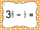 Subtracting Mixed Number Fractions Task Cards