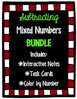Subtracting Mixed Numbers BUNDLE
