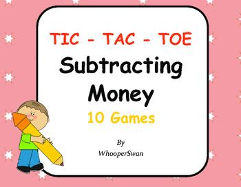 Subtracting Money Tic-Tac-Toe