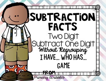 Subtracting One Digit from Two Digit without Regrouping I