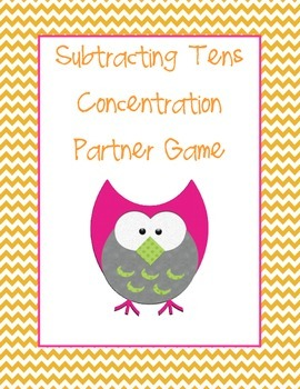 Subtracting Tens Concentration Game