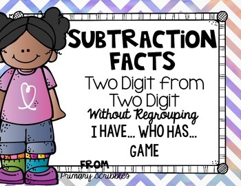 Subtracting Two Digits from Two Digits without Regrouping
