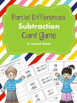 Subtraction Using Partial Differences (Expanded Form) Card Game
