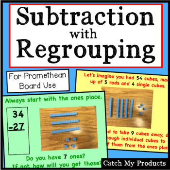 Subtracting With Regrouping (2 digits) Explained for the P