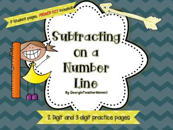 Subtracting on a Number Line Super Pack