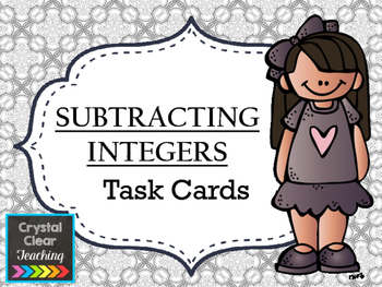 Subtracting with Integers Task Cards