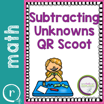 Subtracting with Unknowns Task Cards