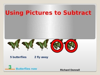 Subtracting with pictures
