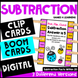 Subtraction Activity with Clothespins: Subtraction Facts M