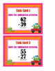 Subtraction 2-Digit With Regrouping Task Cards