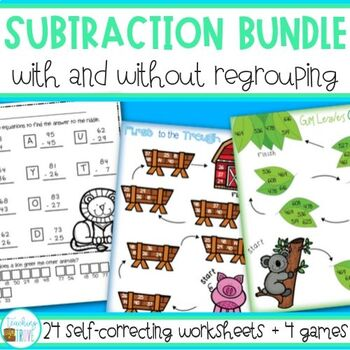 Subtraction - with and without regrouping
