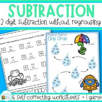 Subtraction - 2 digit no regrouping
