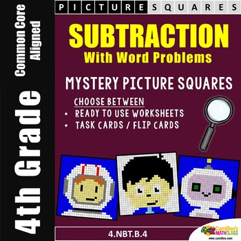 Subtraction Worksheets, Mystery Pictures