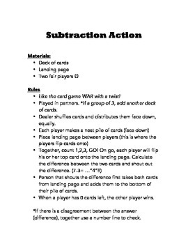 Subtraction Action
