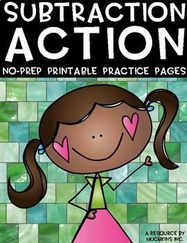 Subtraction Action {3-Digit Subtraction No Prep Practice P