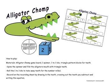 Subtraction Alligator Chomp Game