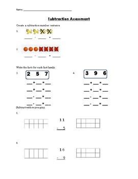 Subtraction Assessment