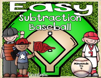 Subtraction Baseball (Minuends to 9)