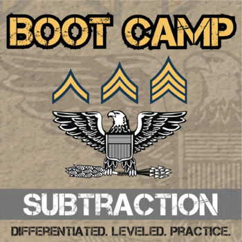 Subtraction Boot Camp -- Differentiated Subtraction Practi
