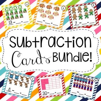 Subtraction Cards Bundle!