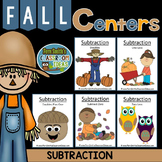 Subtraction Fall Math Centers