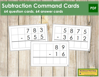 Subtraction Command Cards