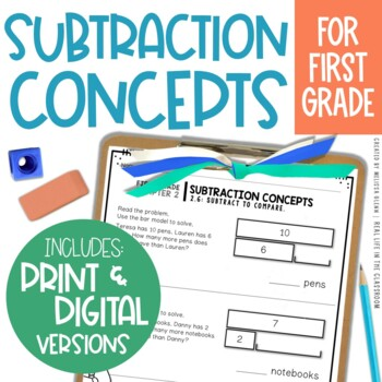 Go Math Chapter 2 Subtraction Extra Practice (1st Grade)