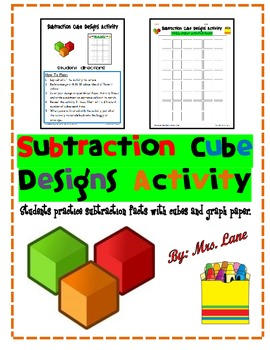 Subtraction Cube Designs Activity