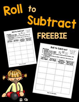 Subtraction Dice Freebie