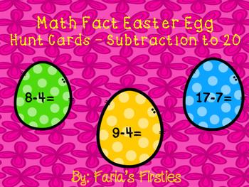 Subtraction Easter Egg Hunt Cards FREEBIE!