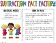 Subtraction Facts Board Game