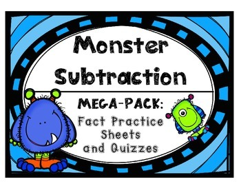 Subtraction Fact Practice Drills and Quizzes by Set with C