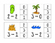Subtraction Facts 0 - 10 Clip Cards