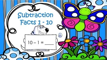 Subtraction - Facts 1 - 10 - Flashcards