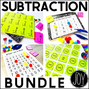 Subtraction Facts Activities Bundle