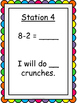 Subtraction Facts Fluency Exercise Activity/Task Cards- Ki