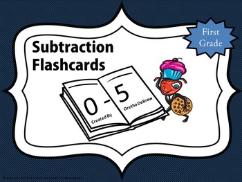 Subtraction Flashcards (0-5)