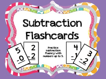 Subtraction Flashcards to 5